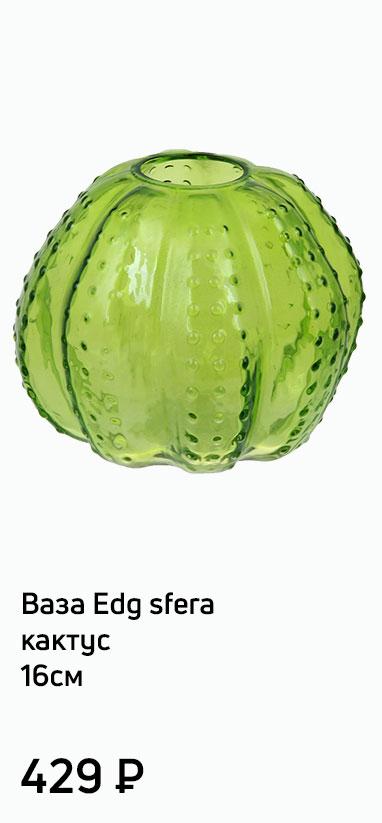 Ваза Edg sfera кактус 16см